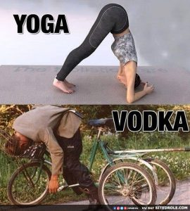 Yoga versus Vodka…