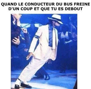 Quand le conducteur du bus freine…
