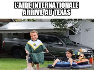 L'Aide internationale arrive au Texas…