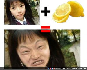 Face de citron…